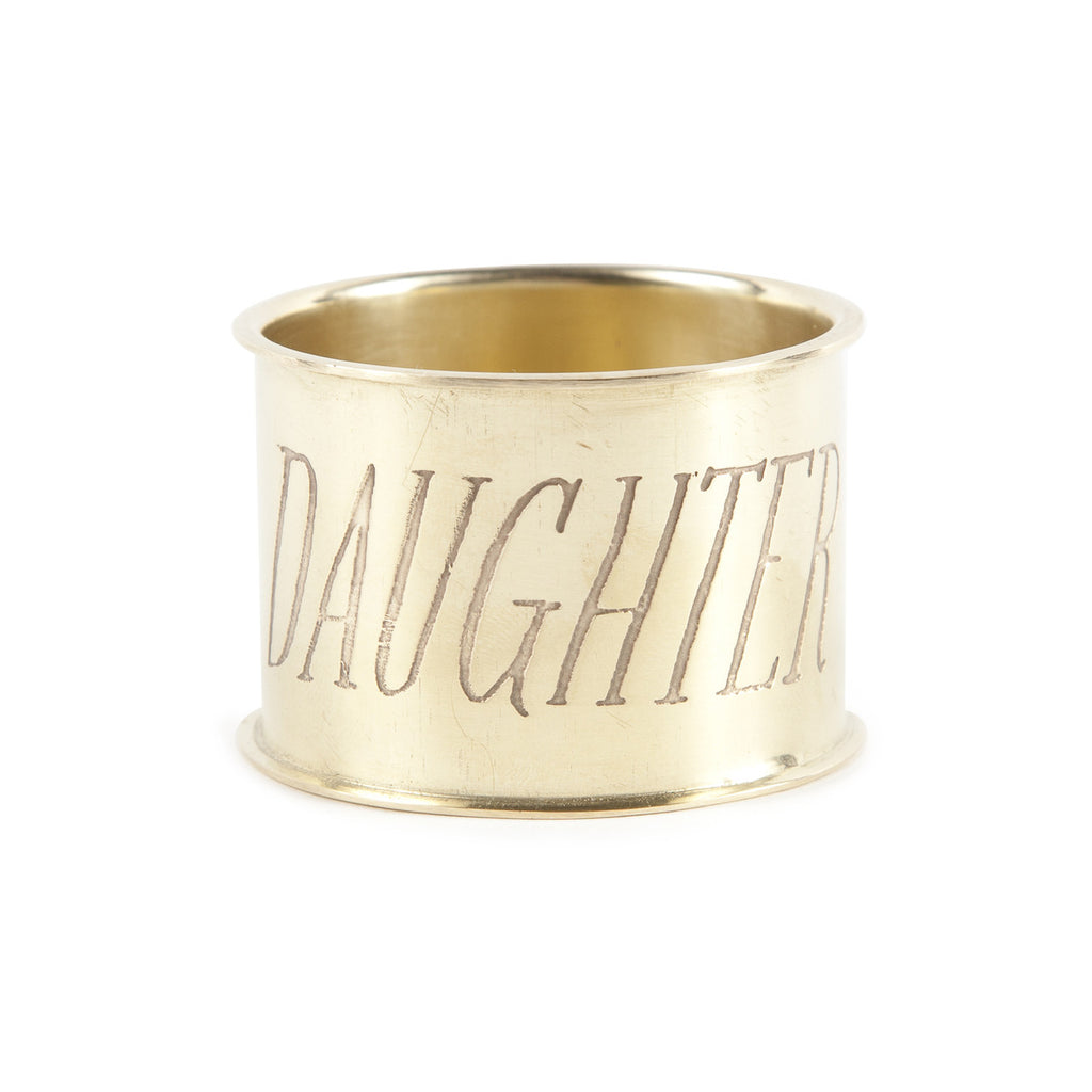 Brass Napkin Ring - Daughter