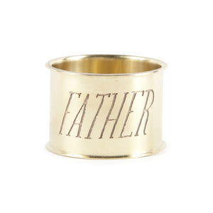 Brass Napkin Ring - Father