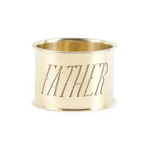 Endearment Brass Napkin Ring - Father