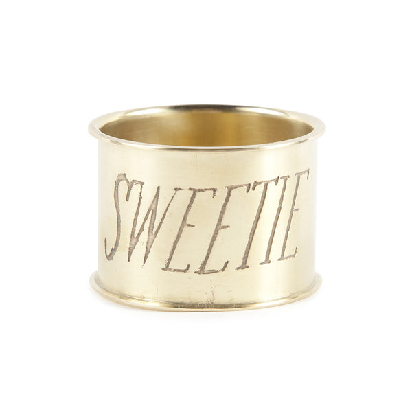 Brass Napkin Ring - Sweetie