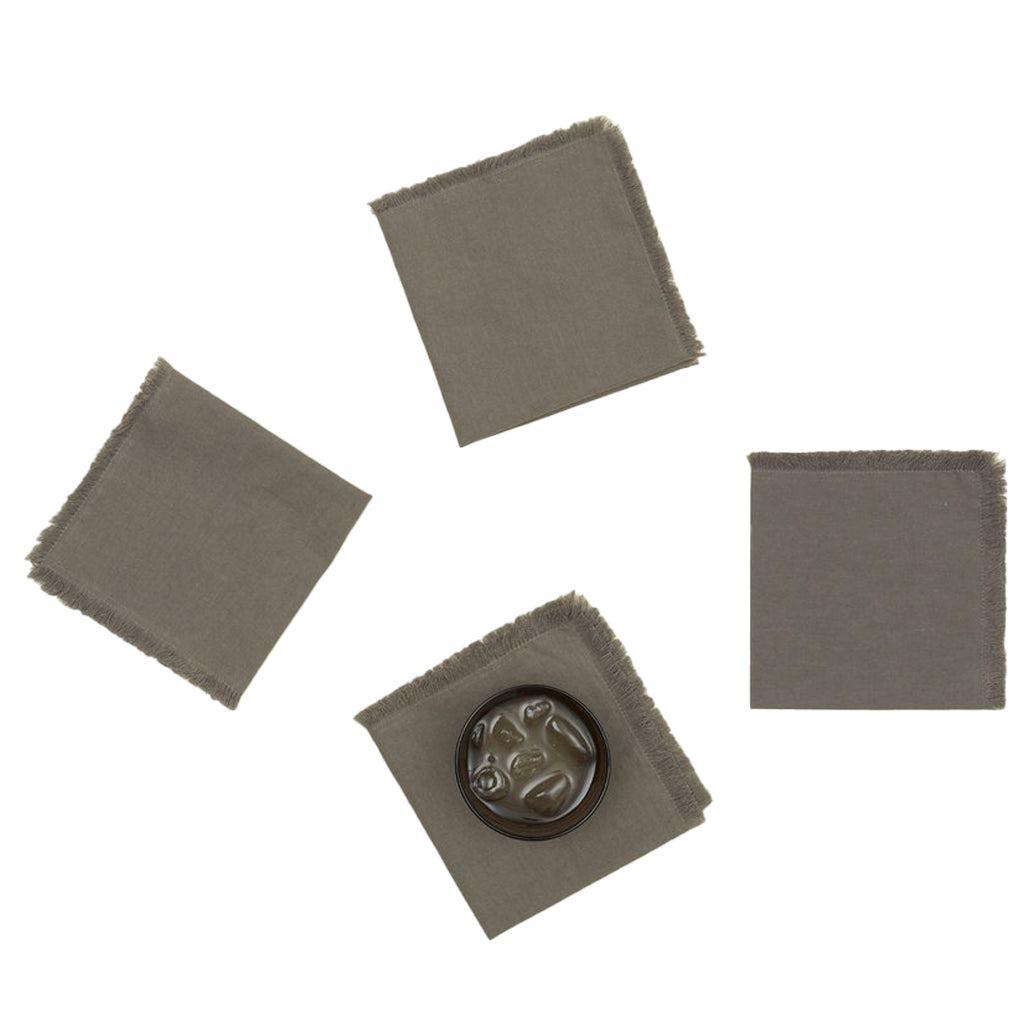 Essential Cocktail Napkins - Dark Grey