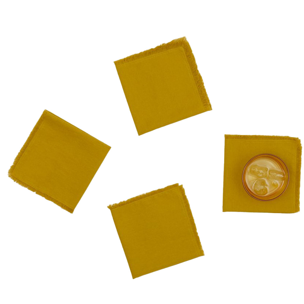 Essential Cocktail Napkins - Mustard