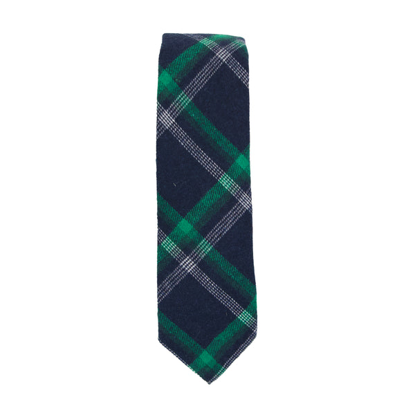 Navy Plaid Necktie