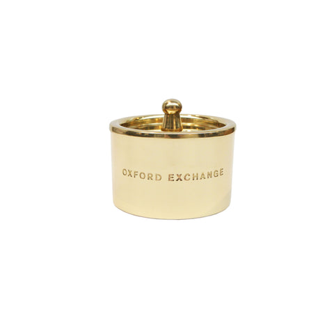 Oxford Exchange Brass Winter Candle
