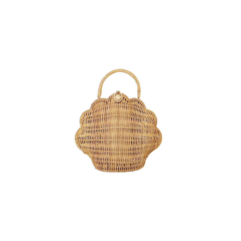 Straw Shell Bag