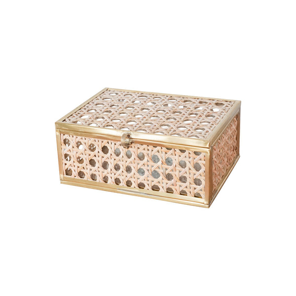 Natural Cane Wicker Box - Small