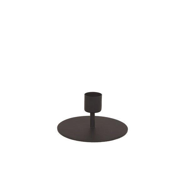Black Taper Candle Holder - Short