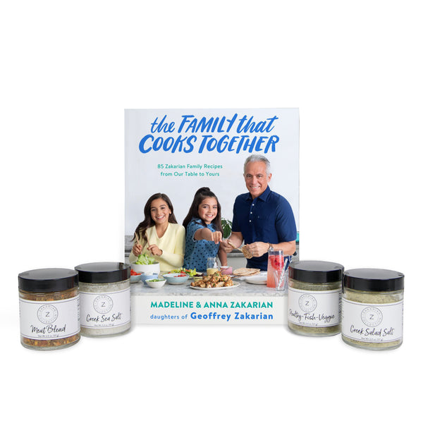 The Family That Cooks Together (Signed & Personalized) & Zakarian Spice Set
