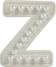 Cozy Pearl Letter Patch A-Z