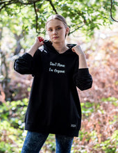 Load image into Gallery viewer, Don't Panic I'm Organic Woman's Hoodie Black