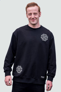Men's Sweatshirt Black the Endless Knot