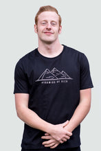 Load image into Gallery viewer, Pyramid of Giza Men's T-Shirt Organic Black