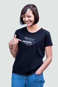 Positive Thinking Round Neck T-Shirt Black