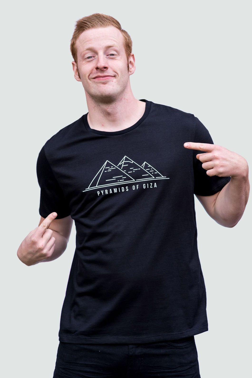 Pyramid of Giza Men's T-Shirt Organic Black