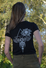Load image into Gallery viewer, Women's Honey Bee Organic T-Shirt Black