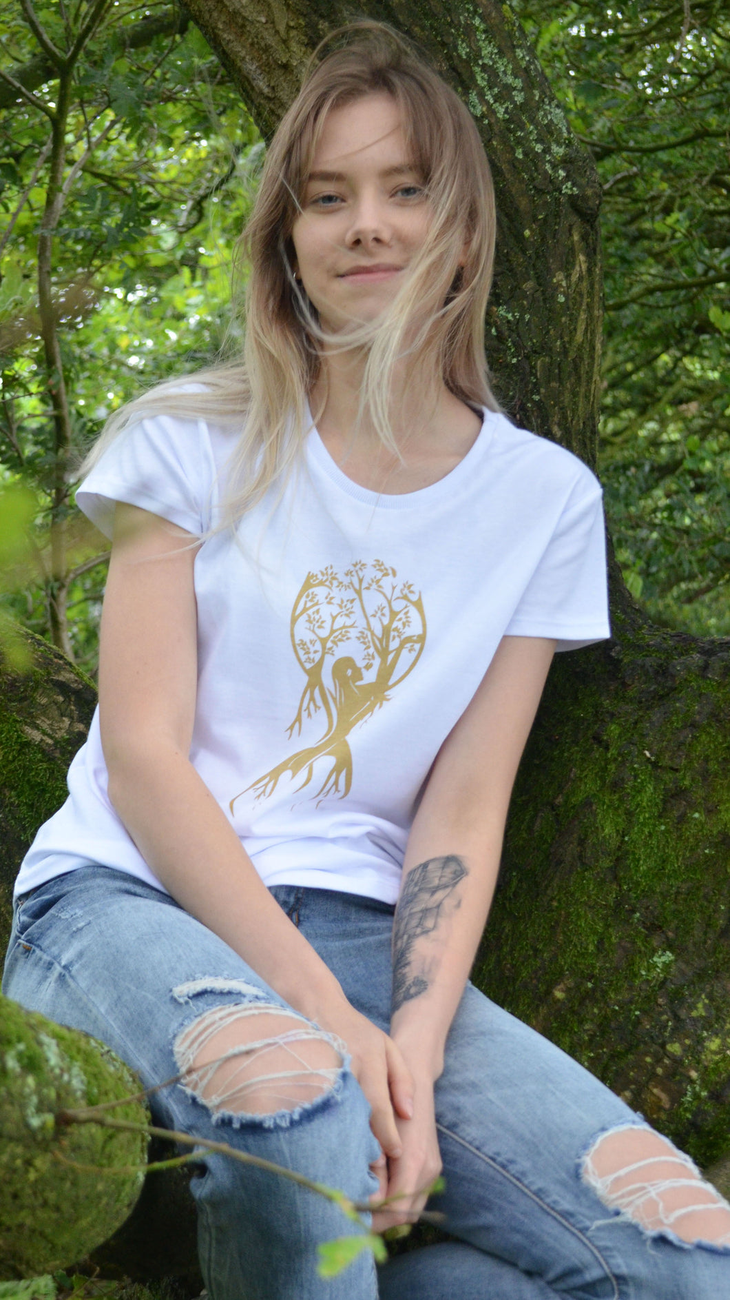 Tree of Life Organic T-Shirt White