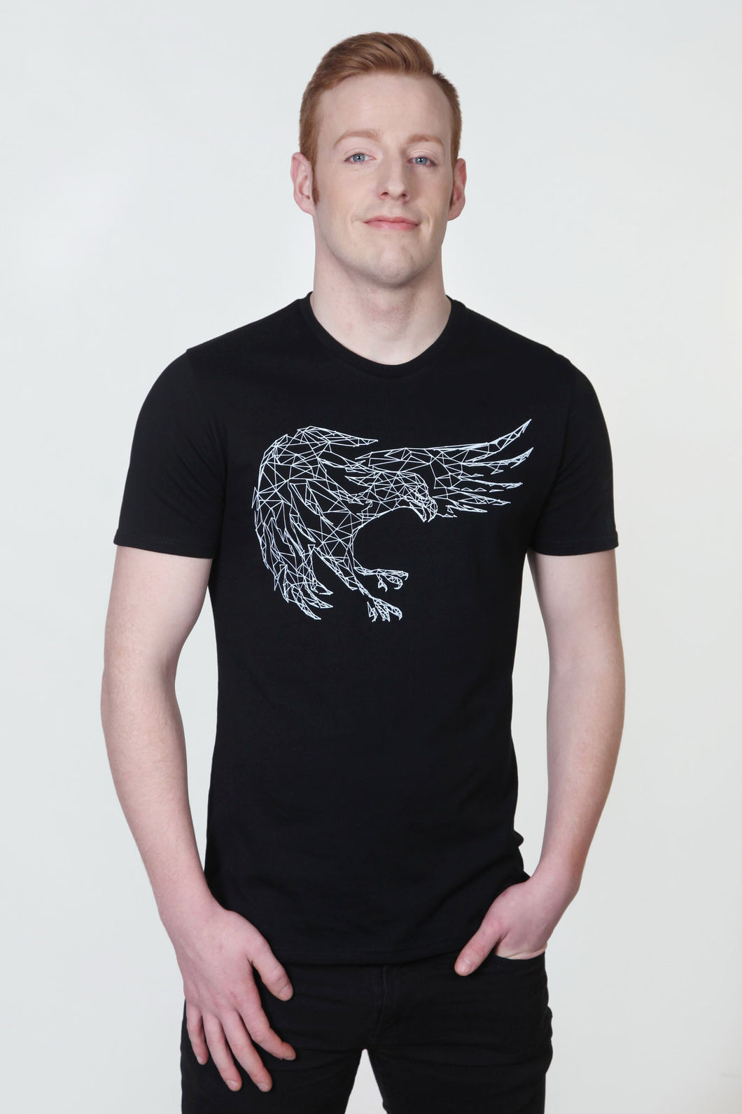 Eagle Flying Swoop T-Shirt Black