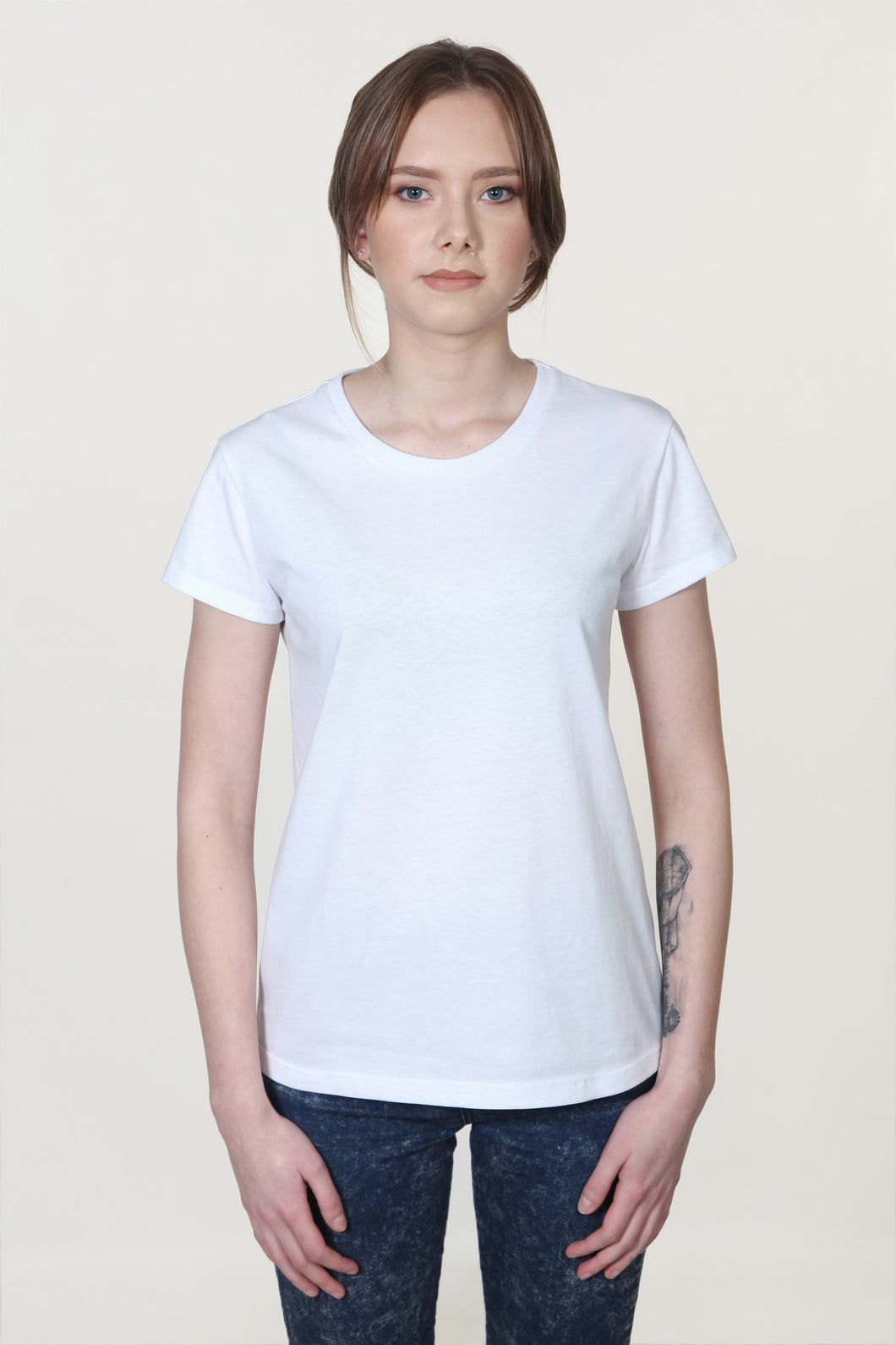 Organic Round Neck T-Shirt White