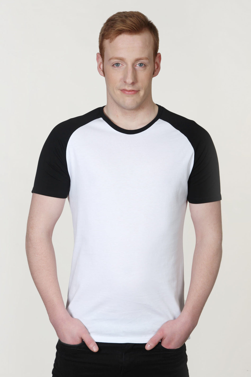 Men's Raglan Sleeve T-Shirt White