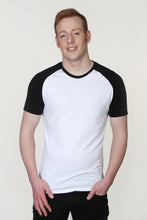 Load image into Gallery viewer, Men's Raglan Sleeve T-Shirt White