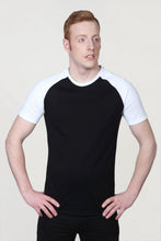 Load image into Gallery viewer, Men's Raglan Sleeve T-Shirt Black
