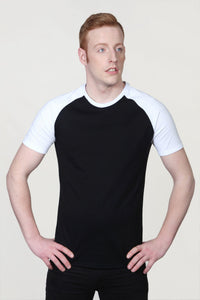 Men's Raglan Sleeve T-Shirt Black