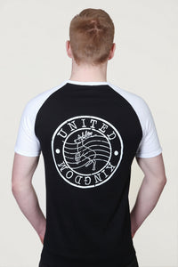 Deer Post Stamp T-Shirt Black