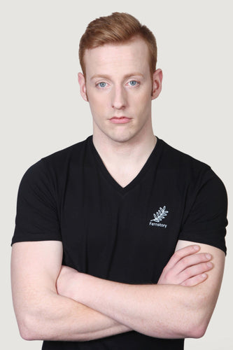 Men's Fernstory V Neck T-Shirts Black
