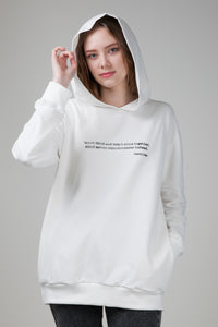 When Mind and Heart Come Together Women's Hoodie with Pockets White Nature