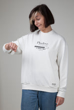 Load image into Gallery viewer, Positive Thinking Women's Sweatshirt White Natural