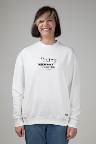 Positive Thinking Women's Sweatshirt White Natural