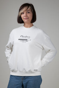 Positive Thinking Women's Sweatshirt with Pockets