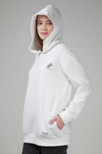 Load image into Gallery viewer, Women's Fernstory Logo Organic Hoodie with Pockets White Nature