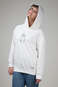Astronaut Siting On Planet Women's  Hoodie White Nature