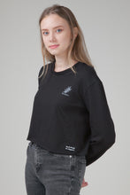 Load image into Gallery viewer, Organic Cropped Sweatshirt Black
