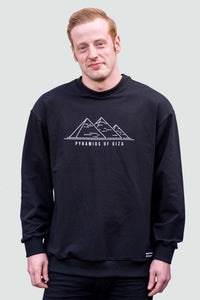 Sweatshirt Men's Black Pyramid of Giza