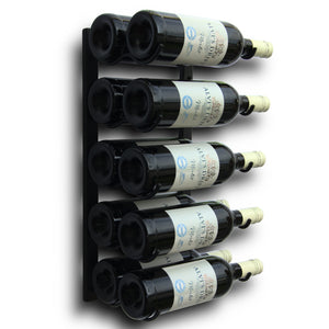 Wine Rack - 30, 20, 15 or 10 Bottle Holder in Black