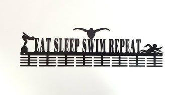 Eat Sleep Swim Repeat 64 tier medal hanger (option of colors available)