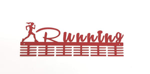 Running lady 48 tier medal hanger (option of colors available)