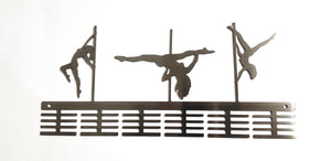 Pole Dance Figurines 48 tier medal hanger (option of colors available)