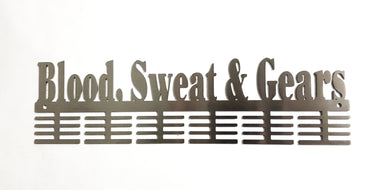 Blood Sweat & Gears Words 48 tier medal hanger (option of colors available)