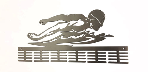 Butterfly Figure Swimming 48 tier medal hanger (option of colors available)