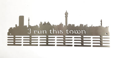 JHB I Run This Town medal hanger 48 tier Stainless steel brush finish