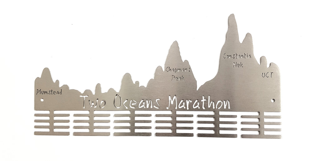 Two Oceans Marathon medal hanger 48 tier Stainless steel brush finish