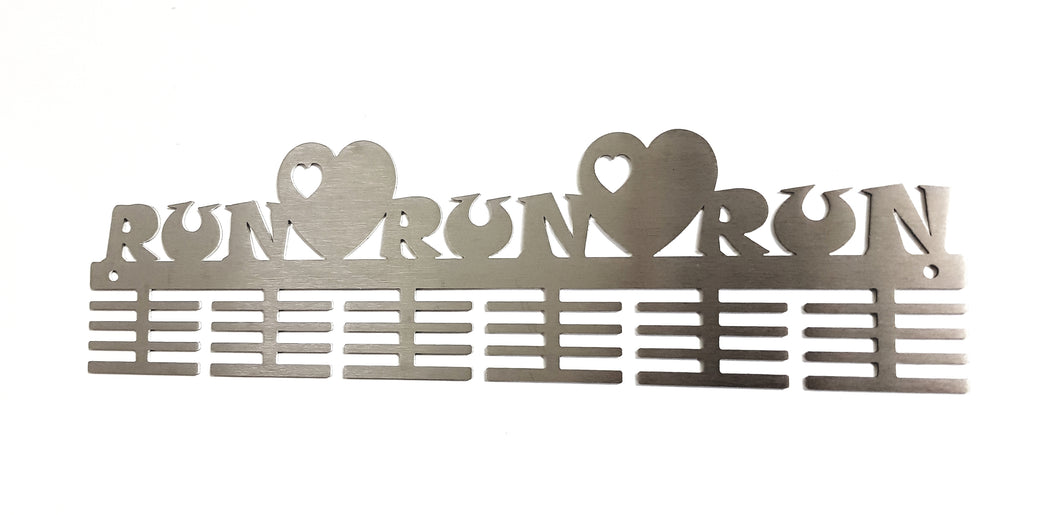 Run Heart Run 48 tier medal hanger (option of colors available)