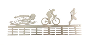 Lady Swim Bike Run Triathlon 48 tier medal hanger (option of colors available)