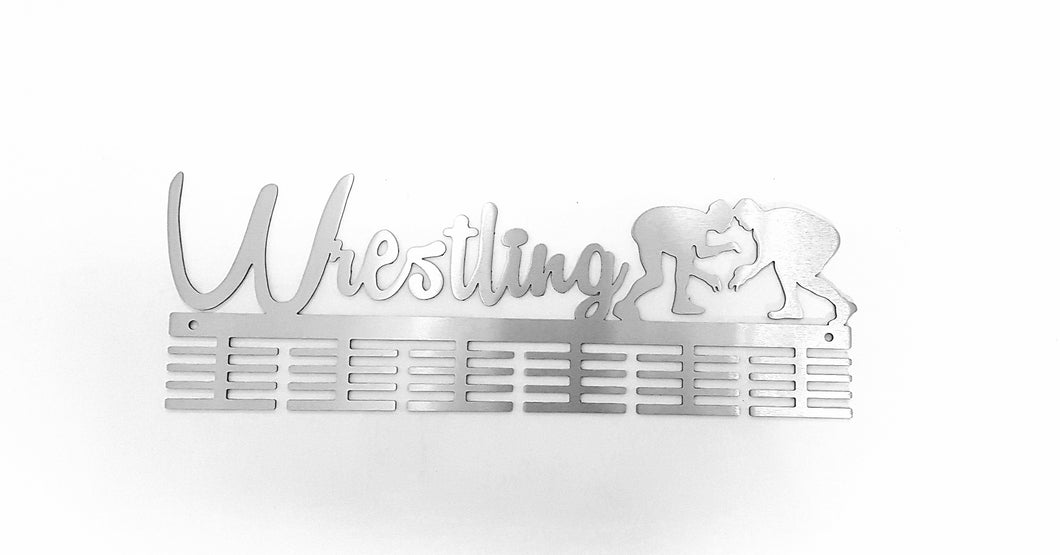 Wrestling 48 tier medal hanger (option of colors available)