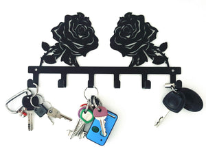 Rose Flower Key Hook