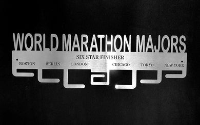 World Marathon Majors 7 tier medal hanger Stainless steel brush finish