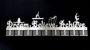 Dream Believe Achieve gymnastics WAG 72 tier medal hanger (option of colors available)